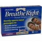 Breathe right nasal strips natural large 10 pack