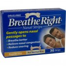 Breathe right nasal strips natural small/medium 30 pack