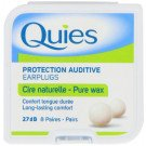 Quies boules natural wax ear plugs 8 pairs