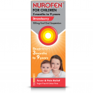 Nurofen for children suspension with syringe sugar-free strawberry 100mg/5ml 100ml