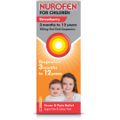 Nurofen for children suspension with syringe sugar-free strawberry 100mg/5ml 200ml