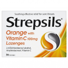 Strepsils lozenge orange & vitamin C 36 pack