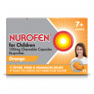 Nurofen for children 7+ chewable capsules 100mg 12 pack