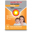 Nurofen for children suspension sachets orange 100mg/5ml 5ml 8 pack