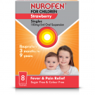 Nurofen for children suspension sachets strawberry 100mg/5ml 5ml 8 pack