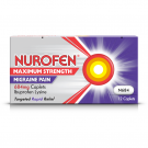 Nurofen migraine pain maximum strength caplets 684mg 12 pack