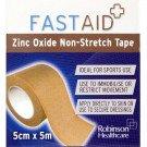 Fastaid zinc oxide tape 5cm x 5m