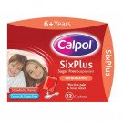 Calpol six plus sachets sugar-free 250mg/5ml 5ml 12 pack
