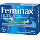 Feminax ultra gastro-resistant tablets 250mg 9 pack