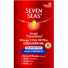 Seven seas pure cod liver oil range high strength one-a-day capsules 60 pack
