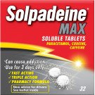 Solpadeine max soluble tablets 32 pack