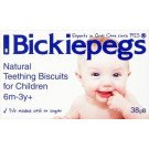 Bickiepegs teething biscuits 38g 9 pack