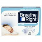 Breathe right nasal strips clear large 10 pack