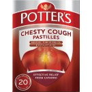 Potters pastilles chesty cough 20 pack
