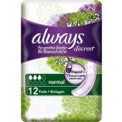 Always incontinence range Discreet pads normal 12 pack