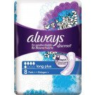 Always incontinence range Discreet pads long plus 8 pack