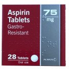 Aspirin tablets e/c 75mg  28