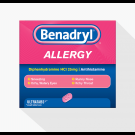 BENADRYL ALLERGY RELIEF capsules 8mg  48