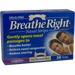 Breathe right nasal strips natural large 30 pack