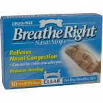 Breathe right nasal strips clear small/medium 10 pack
