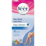 Veet cold wax leg strips sensitive 20 pack
