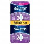 Always ultra sanitary towels long plus duo 22 pack