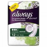 Always incontinence range Discreet  pads normal 12