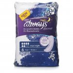 Always incontinence range Discreet  pads maxi night 6