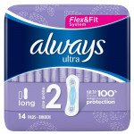 Always ultra sanitary towels pads long 14ct