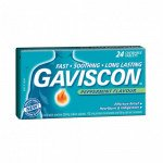 Gaviscon 250 tablets peppermint 24 pack