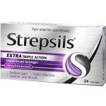 Strepsils lozenges extra triple action blackcurrant 2.4mg 24 pack