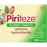 Piriteze allergy tablets one-a-day 10mg 30 pack