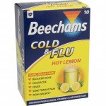 Beechams cold & flu sachets hot lemon 10 pack