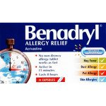 Benadryl capsules allergy relief 8mg 24 pack