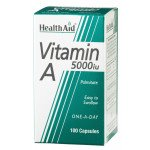 Healthaid vitamin A & D supplements vitamin A capsules 5000iu 100 pack