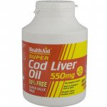 Healthaid supplements cod liver oil capsules 550mg 180 pack
