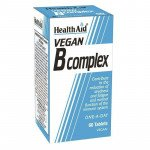 Healthaid vitamin B supplements vegan B complex tablets 60 pack
