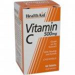 Healthaid vitamin C supplements vit C chewable tablets 500mg 60 pack