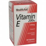 Healthaid vitamin E supplements Vit E capsules 200iu 60 pack