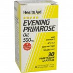 Healthaid supplements evening primrose oil & vitamin E vegicaps 500mg 30 pack