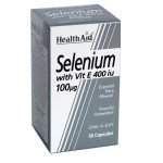 Healthaid mineral supplements selenium with vitamin E capsules 30 pack