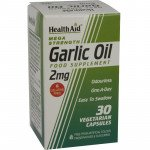 Healthaid garlic supplements odourless garlic oil capsules 2mg 30 pack