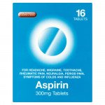Aspirin tablets blister 300mg 16