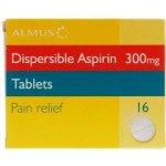 Aspirin Disp tabs 300mg 16