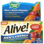 Alive! multivitamin men's energy tablets 30 pack