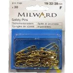 MILWARD GOLD SAFETY PINS