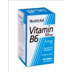 Healthaid vitamin B supplements B6 tablets 50mg 100 pack