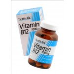 Healthaid vitamin B supplements B12 tablets p/r 1000mcg 50 pack