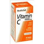 Healthaid vitamin C supplements vit C chewable  tablets 1000mg 60 pack