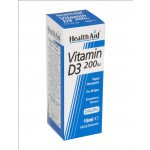 Healthaid vitamin D supplements vitamin D3 200iu drops 15ml